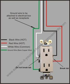 wiring gang duplex receptacle schematic wiring diagram14 two gang receptacles double electrical outlet remodel ideashere is an easy to follow split plug