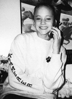 Jennifer Lawrence as a young girl