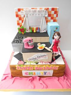 Kitchen Cake Heathers Cakes Designer Wedding and Birthday Cakes