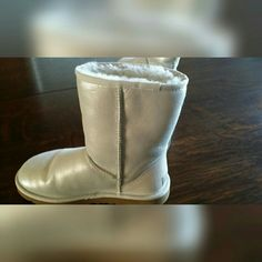 UGG boots UGG ankle booties, super comfy and warm, fun pearly colour that adds a flash to any outfit. UGG Shoes Ankle Boots & Booties