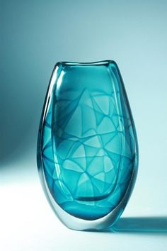 Vicke Lindstrand; Glass 'Colora' Vase for Kosta, 1950s.