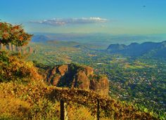 hike to the top: view of tepoztlan, mexico