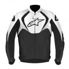 Alpinestars Jaws Leather Jacket, black- white