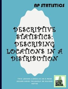 AP Statistics - Describing Locations of Data in a Distribution Ap Statistics, Algebra 2, Flat Belly, Vocabulary, High School, Health Fitness, Students, Teacher, The Unit
