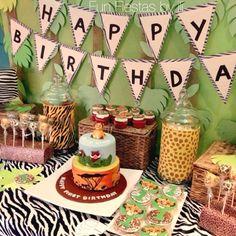 Lion King/ Safari themed 1st birthday party