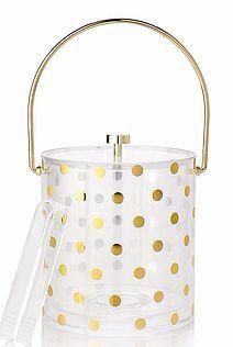 Gold dot ice bucket #katespade