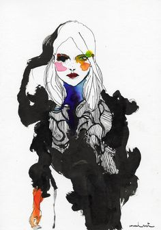 Modeconnect.com - Christopher Kane illustrated by Conrad Roset for SHOWstudio