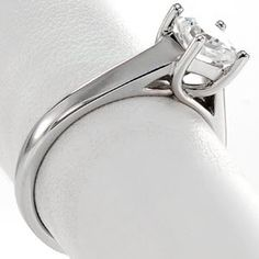 The band flares and flattens out as it reaches the center stone and the prongs weave together like a Trellis. Princess Trellis by Knox Jewelers Princess Cut Rings, Princess Cut Diamonds, Rings N Things, Diamond Solitaire Rings, Stone Rings, Trellis, White Gold, Jewels, Gemstones