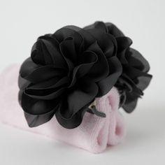 Handmade Dahlia Chiffon Fabric Twin Flower  Hair Jaw Claw Clip Accessories #Handmade