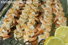 Grilled Shrimp - Couldn't be more simple or easier. I paired this with a dipping sauce that I pinned.