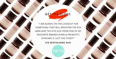 Our Eye Revitalising Duo got a 10/10 on a review by Get the Gloss