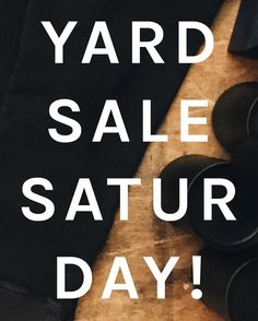 ANNUAL YARD SALE !! This Saturday only at #VAC / #Cincy.  Cleaning house for Spring huge savings on remaining sweats and jeans! #ThisIsOTR http://ift.tt/2ajhEdw