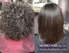 Imagine how simple her life became. Japanese Hair Straightening, Best Hair Salon, Japanese Hairstyle, Perms, Kinky, Salons, Hair Color, Curly, Hairstyles