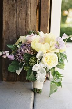 Rustic Pink and Yellow Bouquet | photography by http://braedonphotography.com/