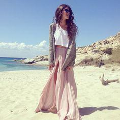 #fashion #longhair #longskirt #beach #summerfashion