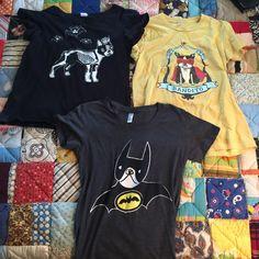 Three All Mighty Boston terrier shirts - L Three shirts, large but run small. Tops Tees - Short Sleeve