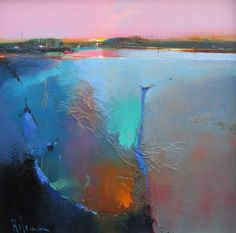 View all art currently available by Peter Wileman FROI RSMA FRSA at Lime Tree Gallery in Bristol and Long Melford, Suffolk. Abstract Landscape, Landscape Paintings, Abstract Art, Peter Wileman, Seascape Art, Sea Art, Impressionism Art, Abstract Expressionism, Artwork