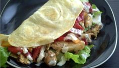 Grilled chicken and sweet pepper tacos $1.90 a serving.