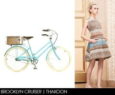 Vogue Daily — How to look great while biking! We love the idea of coordinating your outfit to your bike. Check out your local vintage or second-hand store for affordable, recycled fashions.