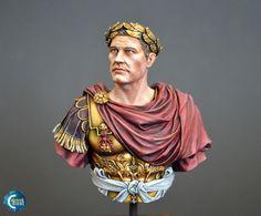 "Painting ""Gaius Julius Caesar"" bust (SBS)   Coloured Dust"