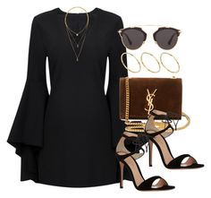 A fashion look from April 2017 featuring Gianvito Rossi sandals, Yves Saint Laurent shoulder bags i ASOS rings. Browse and shop related looks. Girly Outfits, Cute Casual Outfits, Stylish Outfits, Look Fashion, Fashion Outfits, Womens Fashion, Fashion Trends, Looks Chic, Polyvore Outfits
