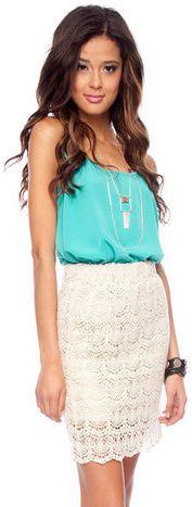 #Tobi                     #Skirt                    #Eyelet #Pencil #Skirt #tobi                        Eye For Eyelet Pencil Skirt :: tobi                                           http://www.seapai.com/product.aspx?PID=1187664