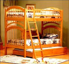 Cool Bunk Beds - For more Awesome Bunk Bed Ideas take a look at HomeIZY.com!