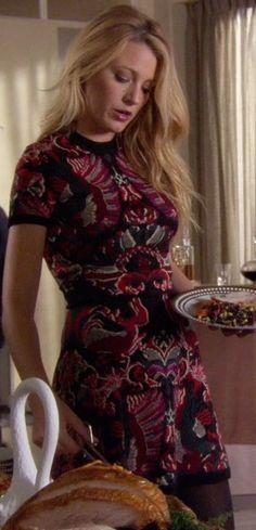 Serena van der Woodsen wearing a McQ Intarsia-knit Flirty Dress on Gossip Girl