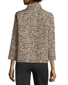 Lafayette 148 New York Vanna Leopard Print Jacket