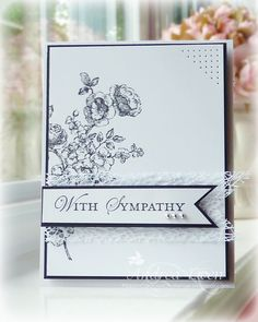 With Sympathy - Scrapbook.com  could easily do with ctmh