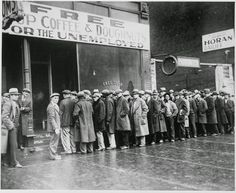 Unemployed men outside a soup kitchen opened in Chicago by Al Capone, 1931