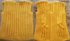 Baby braids newest knitting patterns – Part 2 - Her Crochet Baby Knitting Patterns, Knitting Designs, Short Niña, Crochet Baby Sweaters, Booties Crochet, Baby Vest, Lana, Unique Gifts, Braids