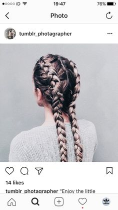 Separate your hair into two parts; then create two dutch braids right to the bot. Hairstyles, Separate your hair into two parts; then create two dutch braids right to the bottom. It's a great hairstyle and a major plus is you don't have to . Pretty Hairstyles, Braided Hairstyles, Hairstyle Ideas, Perfect Hairstyle, Modern Hairstyles, Classic Hairstyles, Hairstyles 2018, French Hairstyles, Braided Updo
