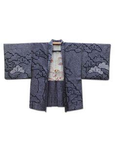 ☆ New Arrival☆ 'The Forest' #black #silk #vintage #Japanese #shibori #tie-dyed #haori #kimonojacket from #FujiKimono http://www.fujikimono.co.uk/fabric-japanese/the-forest.html