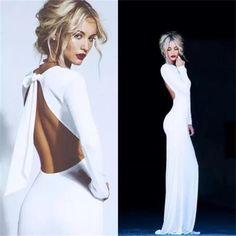 #Beautyrobes Long Sleeves Open Back Unique Design Mermaid Cheap Fashion New Evening #PromDress, 6665762 #longpromdresses