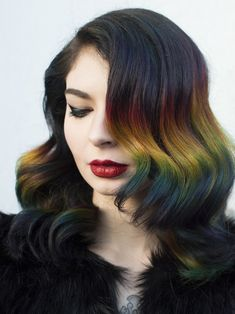 Gorgeous Rainbow Hair Color Shades You Must Try Right Now – Izzy M. Gorgeous Rainbow Hair Color Shades You Must Try Right Now Gorgeous Rainbow Hair Colors For Fine Hair 2018 Ombre Hair Color, Cool Hair Color, Brown Hair Colors, Hair Tutorials For Medium Hair, Medium Hair Styles, Long Hair Styles, Ombre Hair Tutorial, Hair Rainbow, Rainbow Prism