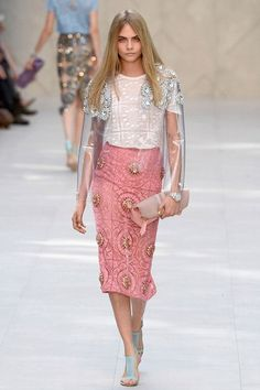 Cara Delevingne at Burberry SS14 LFW - Celebrity fashion gossip: Best and worst dressed