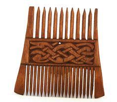 TabernaVagantis Pologne Viking en bois Double peigne avec formulaire pattern Runestone Norvège