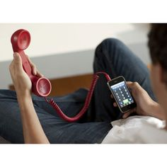 Retro handset for cell phones.