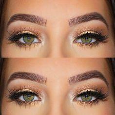 Gold shimmer + Cat eye