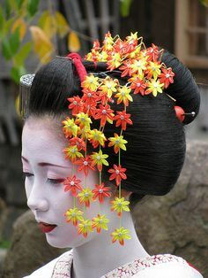 Kogai/Kanzashi are hair ornaments that are put in traditional Japanese hairstyles. Each piece can be made from a wide range of materials. The hair ornaments are unique and everyone's differ from each other