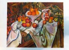 Cezanne yo con cortina