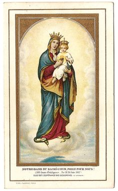 Our Lady of the Sacred Heart Blessed Mother by 12StarsVintage