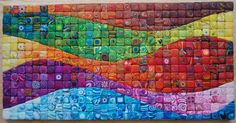 I'm on Polymer Clay Daily .ok not really, but several of my canes made it! My clay friend Ponsawan made this beautiful mosaic wall piece . Mosaic Wall, Mosaic Glass, Stained Glass, Mandala, Rainbow Quilt, Collaborative Art Projects, Creation Deco, Clay Tiles, Polymer Clay Art