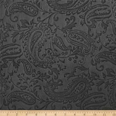 Minky Paisley Cuddle Embossed Charcoal from @fabricdotcom  This ultra soft and cuddly fabric has a smooth minky surface with paisley embossing. Pile measures 5mm. Fabric is perfect for making ultimate minky blanket, throws, cuddly toys, lounge wear, quilt backing much more!