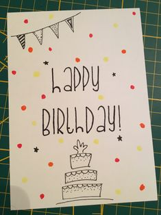 Craft gifts for friends kids super Ideas - Craft Party - DIY Creative Birthday Cards, Homemade Birthday Cards, Birthday Cards For Friends, Diy Gifts For Friends, Bday Cards, Friend Birthday Gifts, Happy Birthday Cards, Birthday Greeting Cards, Birthday Greetings