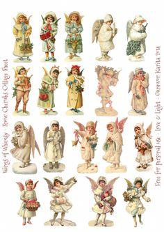 Wings of Whimsy: Christmas Cherubs Sheet freebie printable