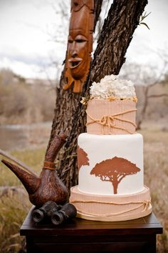Safari-inspired Wedding Cake - add a touch of Africa to your big day