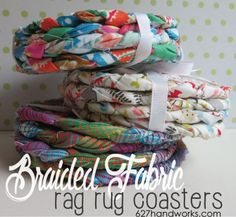 New tutorial up on the blog. It's fast and easy to make rag rug coasters from leftover jelly roll strips or yardage.