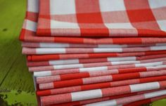 Red and White Gingham Check Eco Friendly Cloth Napkins, Set of inch by Dot and Army Cotton Napkins, Cloth Napkins, Napkins Set, Canada Day 150, Happy Canada Day, Canada Day Fireworks, Canada Day Crafts, Canada Day Party, Canada Holiday